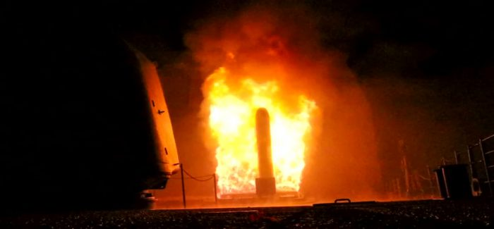 Imagens do bombardeio americano