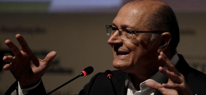 """""""Eu não escolhi o Temer. Quem escolheu foi o PT"""", diz Alckmin"""