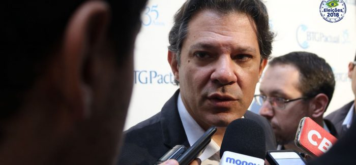 """Teto de gastos cria desordem no setor público"", diz Haddad"