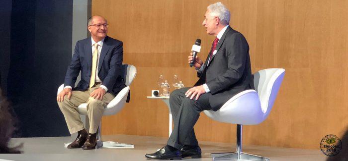 Alckmin diz que, se eleito, vai zerar o déficit fiscal em dois anos