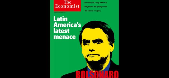 """Ameaça para o Brasil"", diz The Economist sobre Bolsonaro"