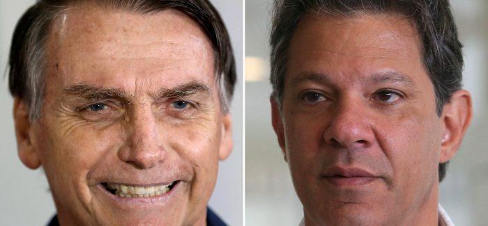Ibope: Bolsonaro tem 54% e Haddad 46% dos votos válidos