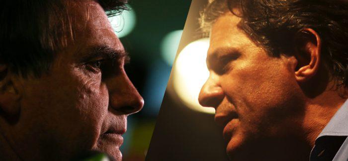 Ibope: Bolsonaro tem 59% e Haddad 41% dos votos válidos