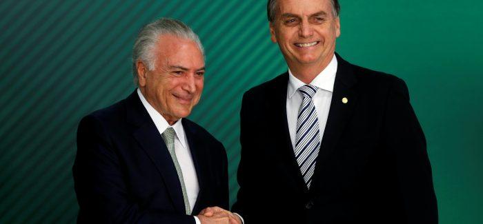 Bolsonaro vai receber de Temer R$ 336 bilhões em investimentos