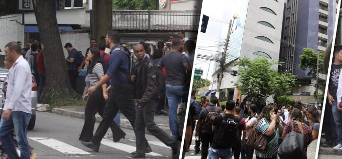 Prédio No Abc é Evacuado Após Funcionários Pularem Durante