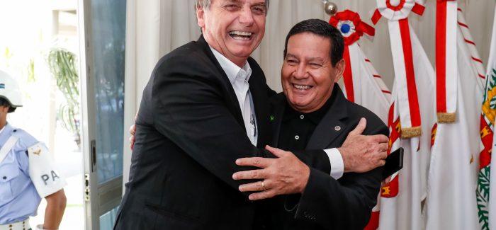 Bolsonaro e Mourão: ciúmes de homem