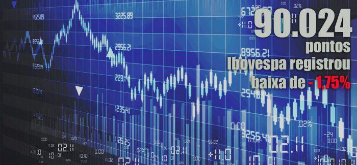Ibovespa fecha na mínima do ano e dólar ultrapassa os R$ 4,00