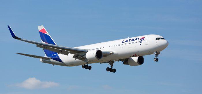 Taxa de ocupação em voos da Latam sobe para 83,6% em maio