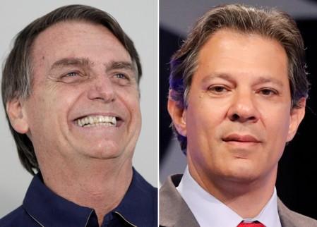 Bolsonaro tem 54% dos votos válidos contra 46% de Haddad e deve vencer eleição, diz Ibope