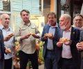 Bolsonaro e pizza