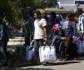 Grupo de 46 migrantes venezuelanos chega a Brasília, onde serão acolhidos e encaminhados às casas de passagem alugadas pela Cáritas Brasileira e pela Cáritas Suíça, com o apoio do Departamento de Estado dos Estados Unidos.