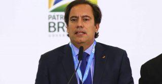 O presidente da Caixa, Pedro Guimarães, durante anúncio de avanços no programa federal de habitação, o Casa Verde e Amarela.