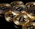 Ilustrações da moeda virtual bitcoin