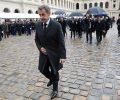 Ex-presidente francês Nicolas Sarkozy deixa cerimônia em Paris